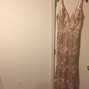 Crystal Doll Gold and Pink Dress Sequins Size 5